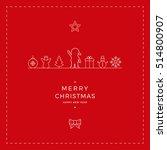 merry christmas santa card red... | Shutterstock .eps vector #514800907