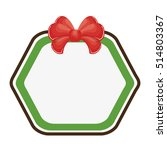 happy merry christmas bow...   Shutterstock .eps vector #514803367
