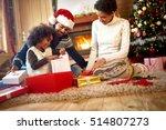 afro american parents looking... | Shutterstock . vector #514807273