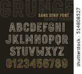 the original sans serif font... | Shutterstock .eps vector #514808527