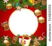 christmas. background christmas ... | Shutterstock .eps vector #514820203