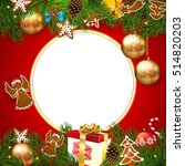Christmas. Greetings Christmas card. Christmas invite. | Shutterstock vector #514820203