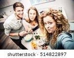 group of friends having dinner... | Shutterstock . vector #514822897
