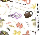 hair accessories object set... | Shutterstock .eps vector #514823287