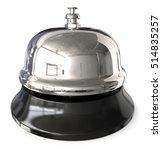 reception bell. 3d render of... | Shutterstock . vector #514835257