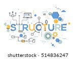 structural organization of... | Shutterstock .eps vector #514836247