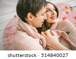 young couple in love embracing... | Shutterstock . vector #514840027