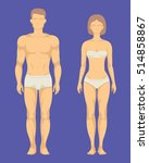 Healthy Body Of Man And Woman...