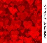 valentine seamless hearts... | Shutterstock .eps vector #514868923