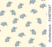 babies seamless pattern with... | Shutterstock .eps vector #514870267