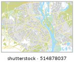 kiev city map. city plan.... | Shutterstock .eps vector #514878037
