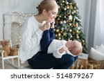 happy family mother and baby...   Shutterstock . vector #514879267