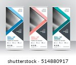 roll up banner stand template... | Shutterstock .eps vector #514880917
