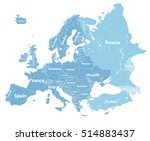 high detailed europe political... | Shutterstock .eps vector #514883437