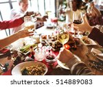 family together christmas... | Shutterstock . vector #514889083