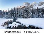 winter landscape near antholz... | Shutterstock . vector #514890373