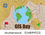 gis day. geographic information ... | Shutterstock .eps vector #514899523