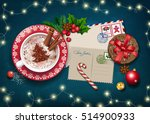 christmas card with letter to...   Shutterstock .eps vector #514900933