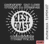 t shirt print design. west... | Shutterstock .eps vector #514904107