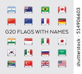 a set of vector flags for the... | Shutterstock .eps vector #514906603