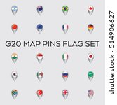 a set of vector flags for the... | Shutterstock .eps vector #514906627
