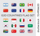 a set of vector flags for the... | Shutterstock .eps vector #514906633