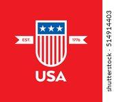 a modern style vector american... | Shutterstock .eps vector #514914403
