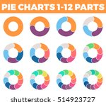 pie charts for infographics.... | Shutterstock .eps vector #514923727