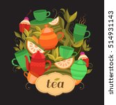 design tea packaging. vector... | Shutterstock .eps vector #514931143