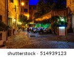 Old Cozy Street At Night In...