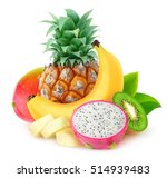 Isolated Tropical Fruits....