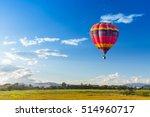 Hot Air Balloon Over The Green...