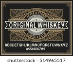 vintage whiskey label typeface... | Shutterstock .eps vector #514965517
