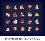 set of vector flat drinks and... | Shutterstock .eps vector #514974727