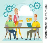 office workers gathered... | Shutterstock .eps vector #514974883