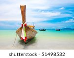 longtail boats moored off the... | Shutterstock . vector #51498532