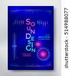 sound design poster template... | Shutterstock .eps vector #514988077