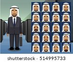 business arab man cartoon... | Shutterstock .eps vector #514995733