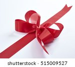 christmas red ribbon isolated... | Shutterstock . vector #515009527