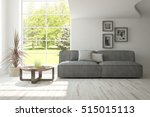white room with sofa.... | Shutterstock . vector #515015113