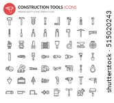 construction tools   thin line... | Shutterstock .eps vector #515020243