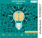 lamp of business success modern ... | Shutterstock .eps vector #515028217