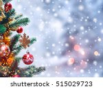 christmas tree background and... | Shutterstock . vector #515029723