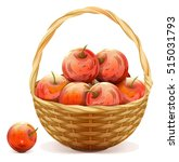 Wicker Basket Full Of Red...