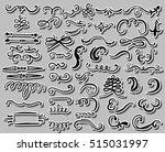 hand drawn set of design... | Shutterstock .eps vector #515031997