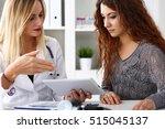 beautiful female medicine... | Shutterstock . vector #515045137