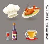 restaurant icons symbols set... | Shutterstock .eps vector #515047747
