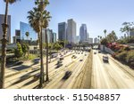 downtown cityscape los angeles  ... | Shutterstock . vector #515048857