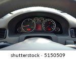 Luxury Car Dashboard Closeup