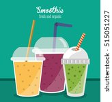 smoothie drink glass design | Shutterstock .eps vector #515051227